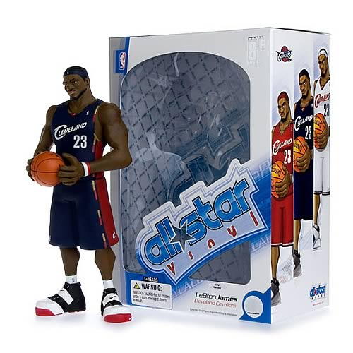 NBA All-Star LeBron James (Blue Jersey) Vinyl Figure