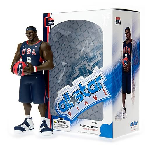 NBA All-Star LeBron James (Team USA Jersey) Vinyl Figure