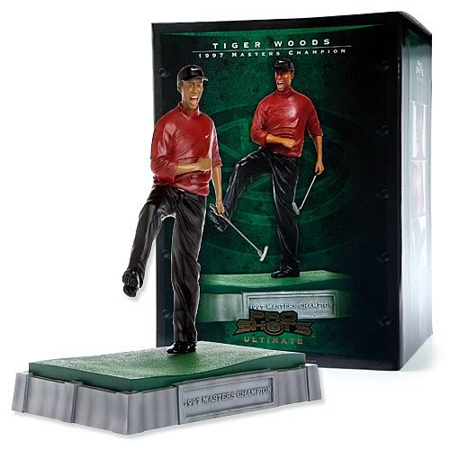 Tiger Woods Pro Shots 1997 Masters Champion Resin Statue