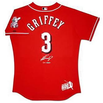 Ken Griffey Jr. Signed 600 Home Runs Framed Reds Jersey