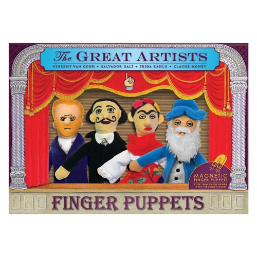 Famous Artists Plush Finger Puppet Magnet Set