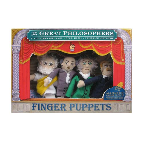 Famous Philosophers Plush Finger Puppet Magnet Set