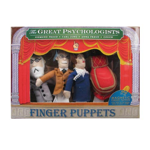 Famous Psychologists Plush Finger Puppet Magnet Set