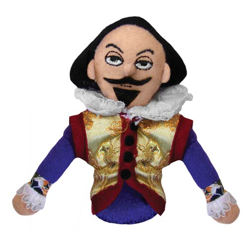 William Shakespeare Plush Finger Puppet Magnet