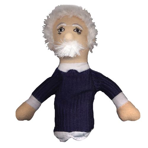 Albert Einstein Plush Finger Puppet Magnet