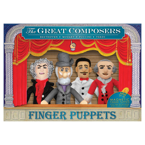 Classic Composers Plush Finger Puppet Magnet Set