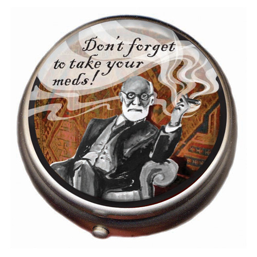 Sigmund Freud Pill Box