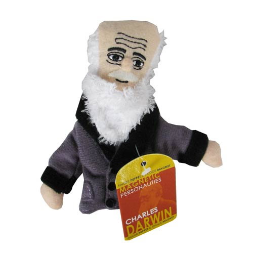 Charles Darwin Plush Finger Puppet Magnet