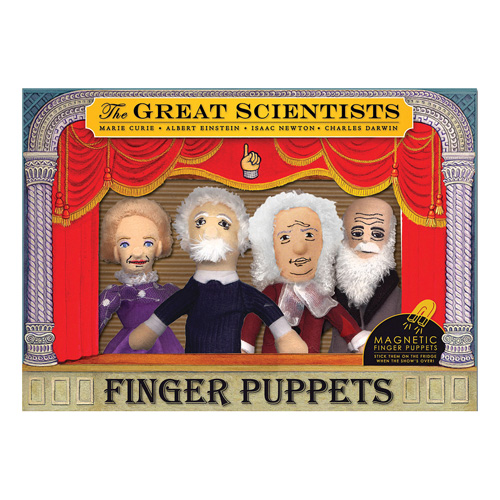 Famous Scientists Plush Puppet Magnet Set