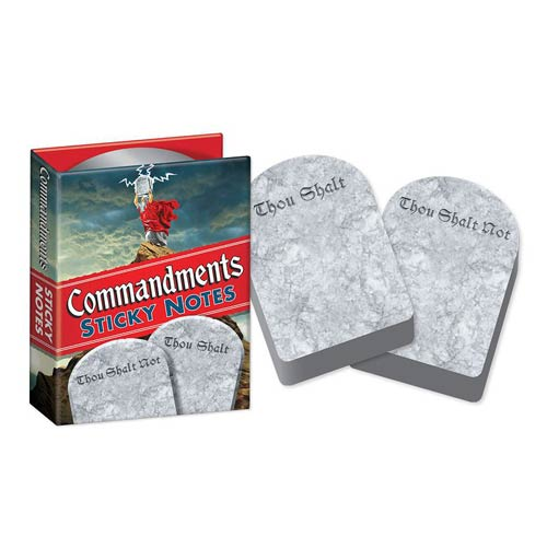 Ten Commandments Sticky Notes