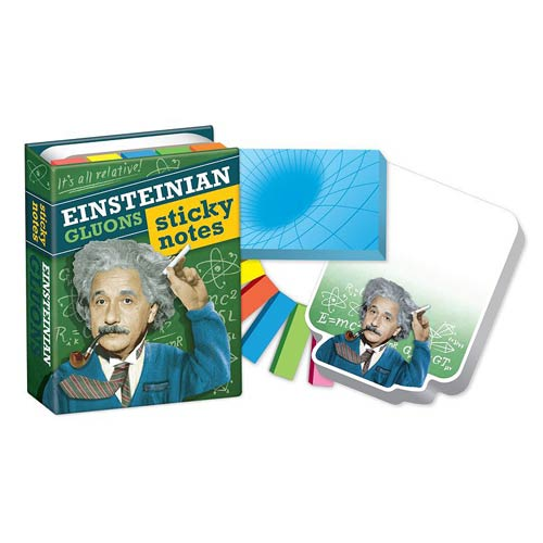 Albert Einstein's Gluons Sticky Notes