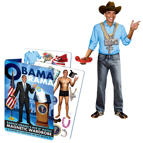 Barack Obama Obamarama Dress-Up Magnet Set