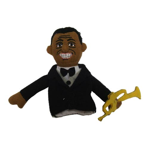 Louis Armstrong Plush Finger Puppet Magnet
