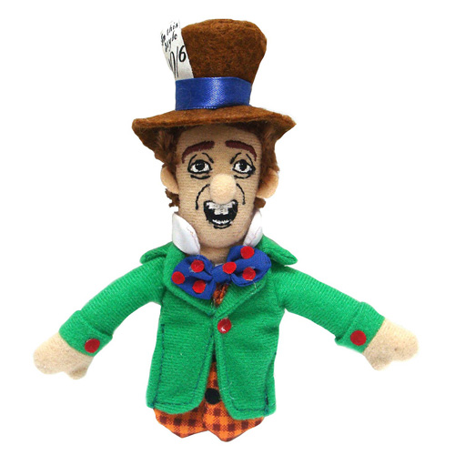 Alice in Wonderland Mad Hatter Plush Finger Puppet Magnet