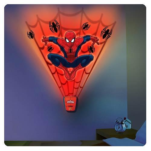 Spider-Man Amazing Web Attack Night Light with Sound