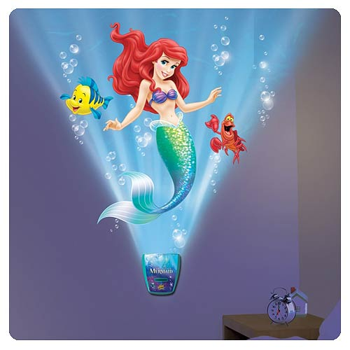 Little Mermaid Under the Sea Journey Night Light with Sound - Uncle ...