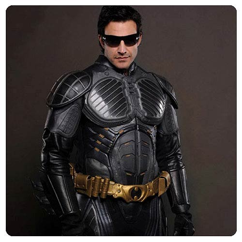 Batman Begins Leather Jacket Pre-Suit Replica no Logo