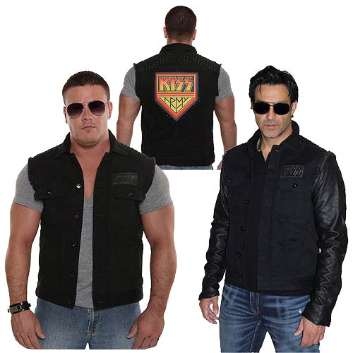 KISS Army Jacket with Removable Leather Sleeves