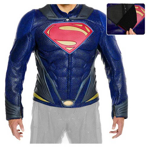 Superman Man of Steel Movie Leather Jacket Prop Replica