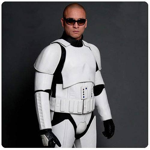Star Wars White Stormtrooper Leather Motorcycle Jacket