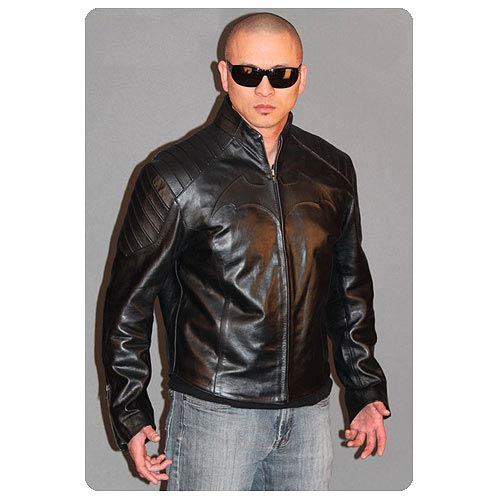 Batman Begins Black Leather Street Jacket