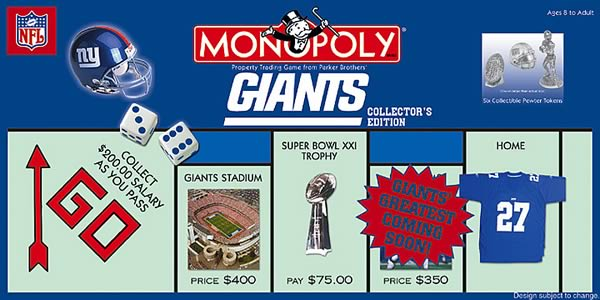 New York Giants Monopoly