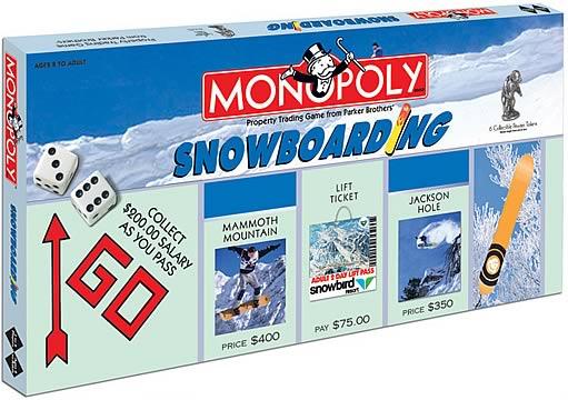 Snowboarding Monopoly