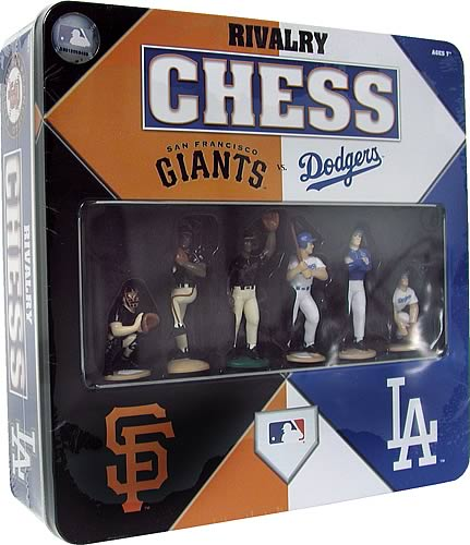Dodgers vs. Giants Chess