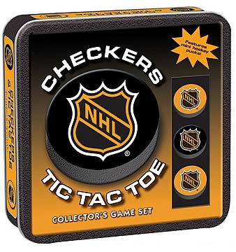NHL Checkers & Tic-Tac-Toe Set