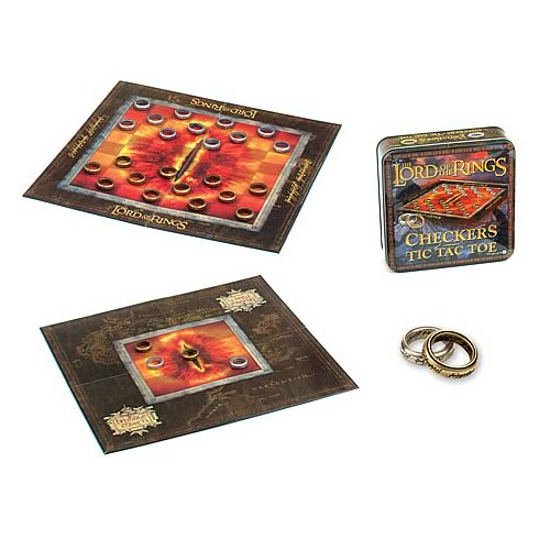 Lord of the Rings Checkers & Tic Tac Toe in a Tin