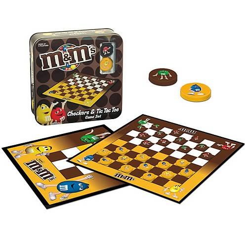 M&Ms Checkers and Tic Tac Toe Game Set