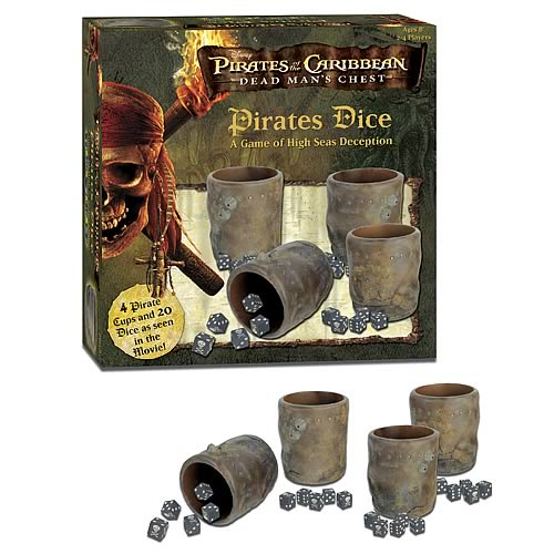 Pirates of the Caribbean 2 Pirates Dice
