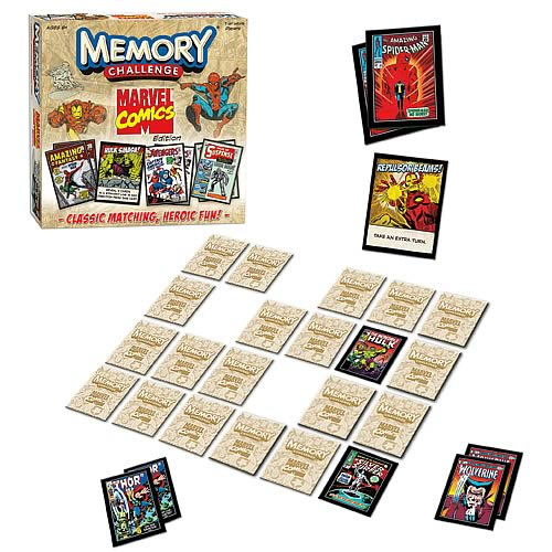 Marvel Comics Edition Memory Challenge Game
