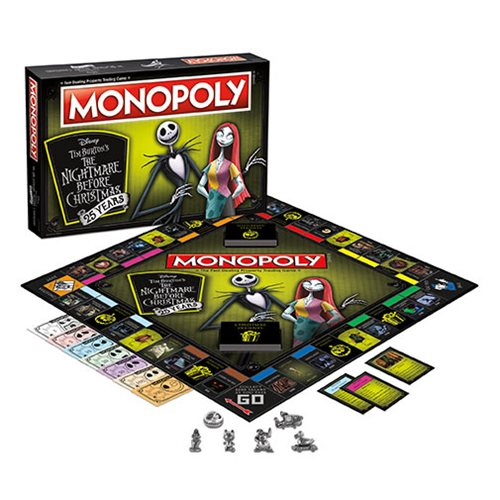Nightmare Before Christmas 25 Years Monopoly Game Collectors Edition