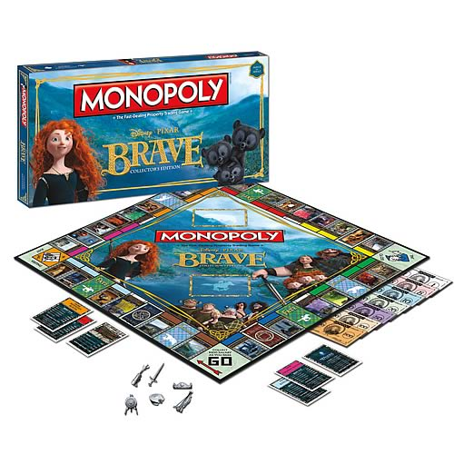 Pixar Brave Collector's Edition Monopoly Board Game