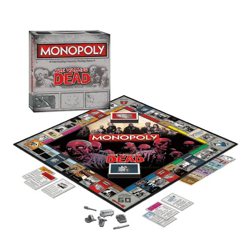 The Walking Dead Comic Book Version Monopoly