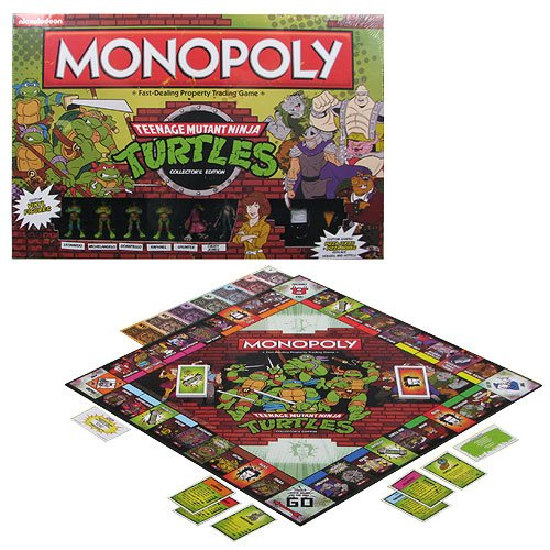 Teenage Mutant Ninja Turtles Retro Edition Monopoly