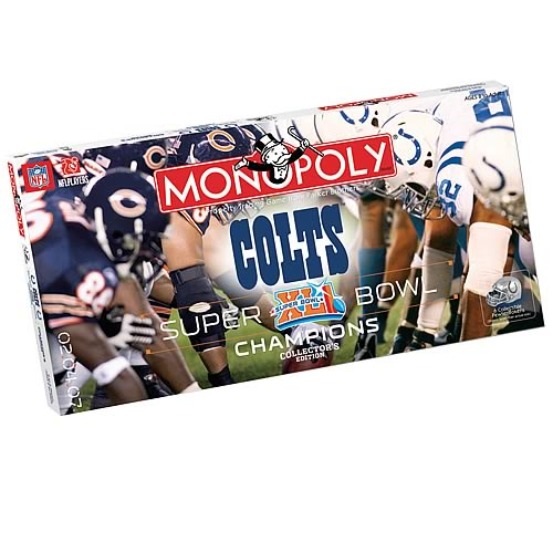 Indianapolis Colts Super Bowl XLI Edition Monopoly