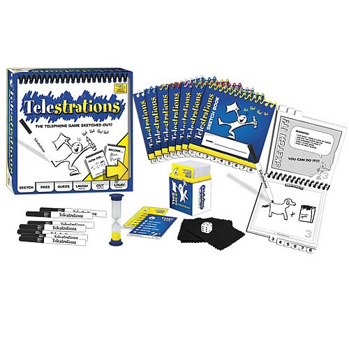 Telestrations 12-Player Party Pack Game, Not Mint