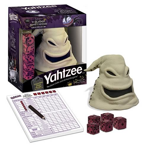 Nightmare Before Christmas Oogie Boogie Yahtzee