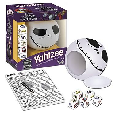 Nightmare Before Christmas Collector's Edition Yahtzee - USAopoly ...