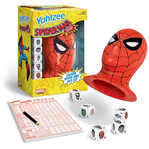 Spider-Man Collector's Edition Yahtzee Dice Game
