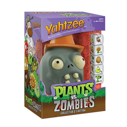 Plants vs. Zombies Cone Zombie Edition Yahtzee Game