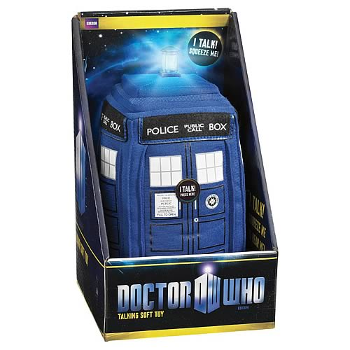 Doctor Who Medium Talking TARDIS Light Up Plush