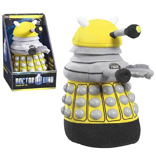 Doctor Who Medium Talking Yellow Dalek Plush