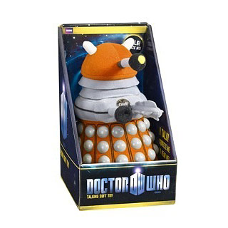Doctor Who Medium Talking Orange Dalek Plush