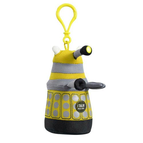 Doctor Who Mini Talking Yellow Dalek Plush Key Chain