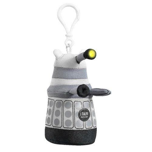Doctor Who Mini Talking Light-Up White Dalek Plush Key Chain