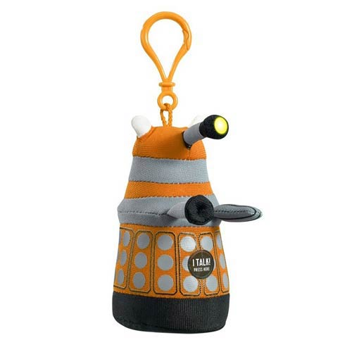 Doctor Who Mini Talking Orange Dalek Plush Key Chain