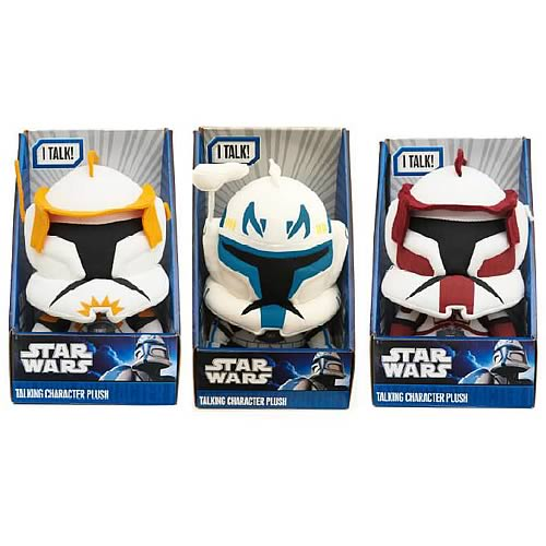 Star Wars Clone Wars Medium Talking Plush Wave 1 Case